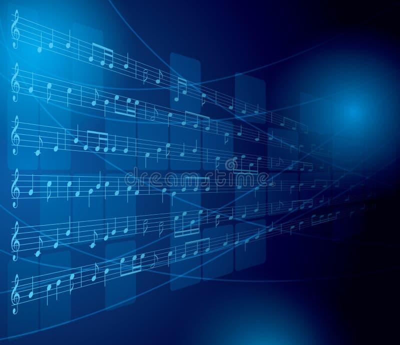 Fundo musical com notas e quadrados - eps 10 ilustração royalty free