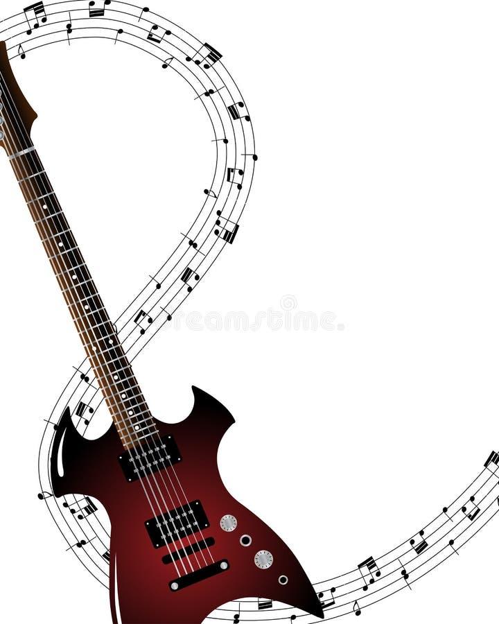 Fundo Musical Do Grunge Foto de Stock