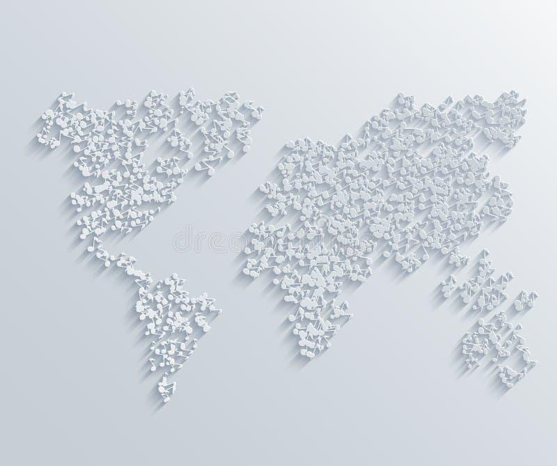 Fundo musical moderno do mapa do vetor ilustração royalty free