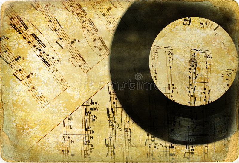 Fundo musical retro foto de stock royalty free