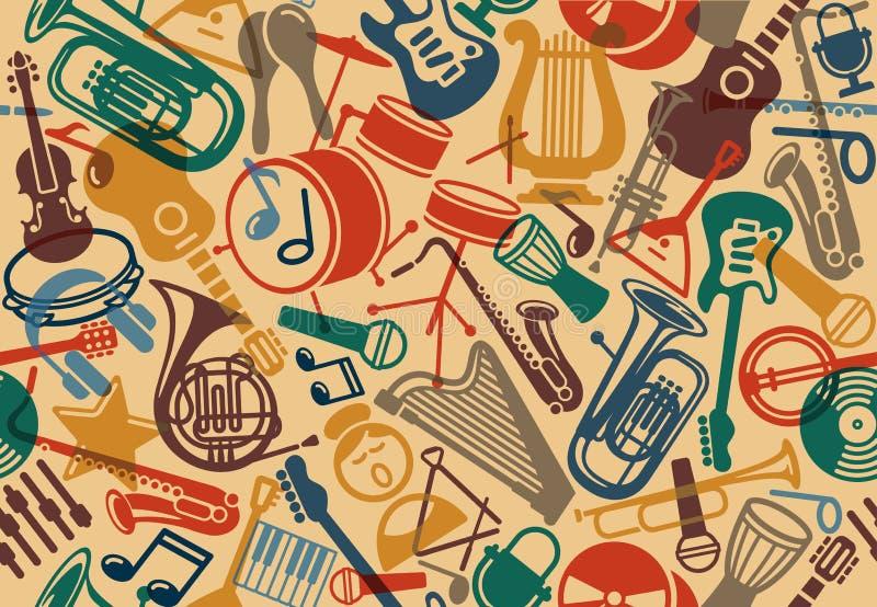 Fundo musical sem emenda ilustração royalty free