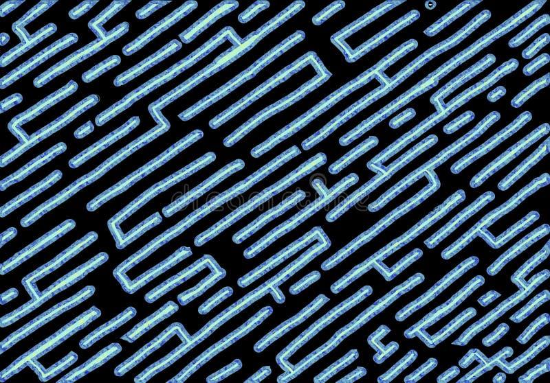 Fundo número quinze do estilo do labirinto com fundo preto ilustração royalty free