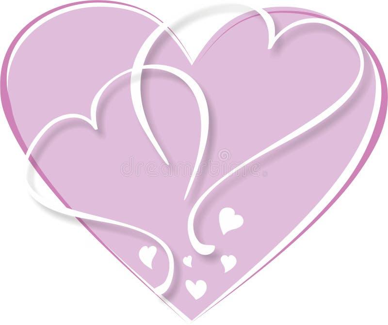 Fundo na forma de um coração ilustração do vetor