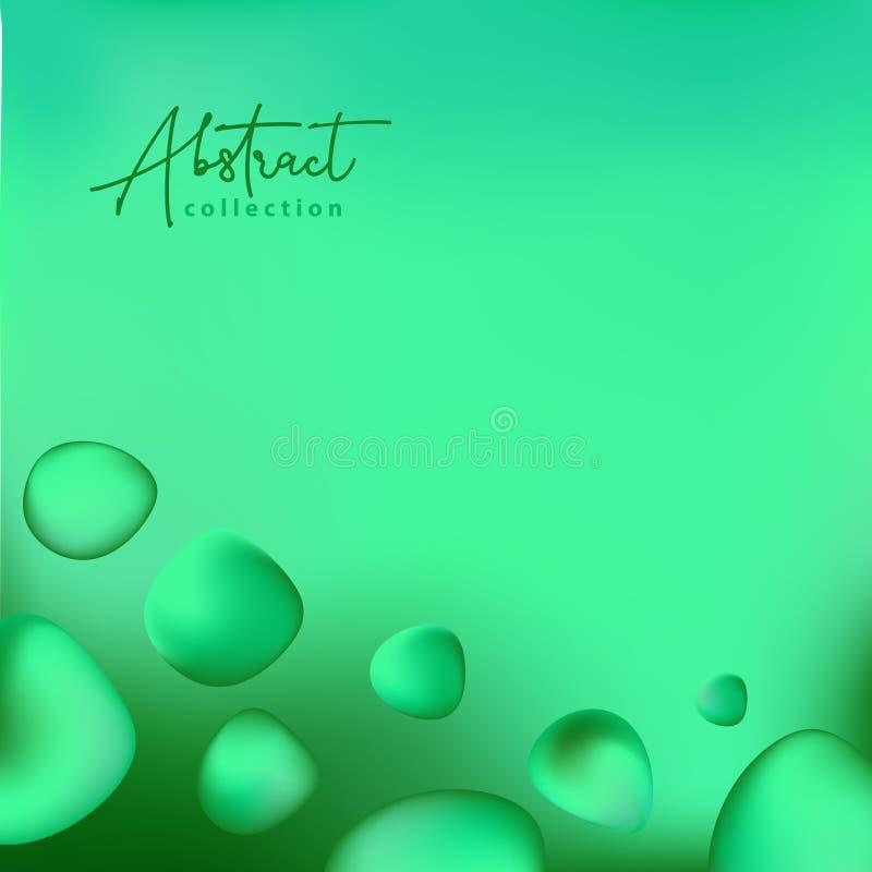 Fundo na moda do vetor abstrato do verão da grama verde com formas fluidas do inclinação 3d, cores líquidas Elementos fluidos iso ilustração do vetor
