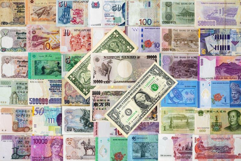 Fundo nacional inter dos dinheiros fotografia de stock royalty free