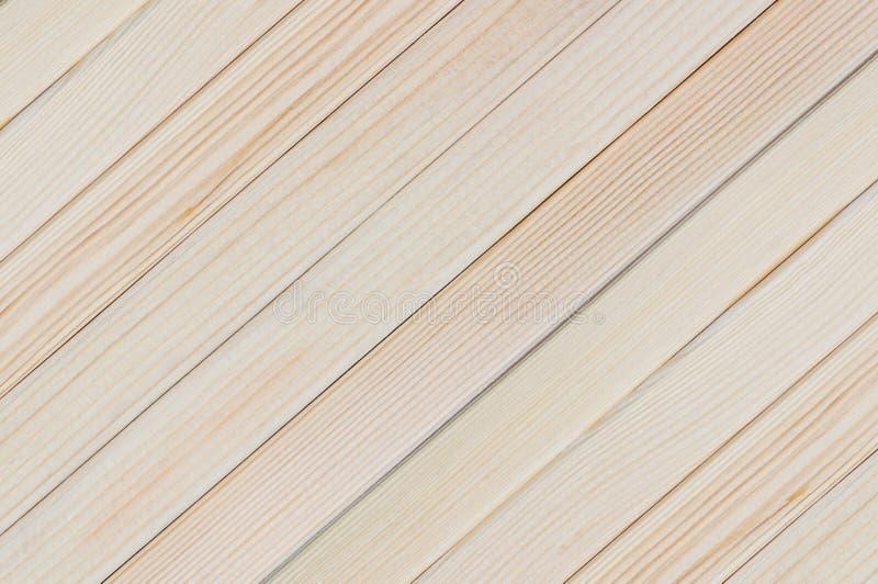 Fundo natural da diagonal clara de madeira nova das placas da prancha imagens de stock royalty free