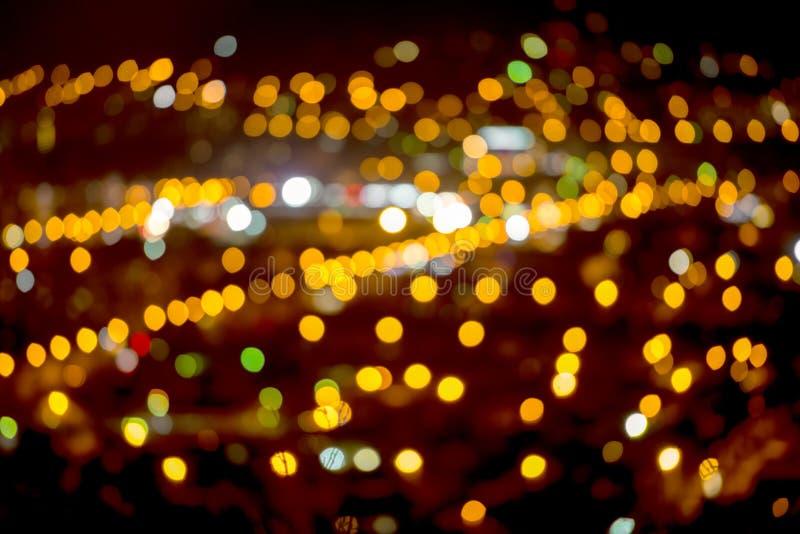 Fundo natural do bokeh, luzes da cidade imagens de stock royalty free