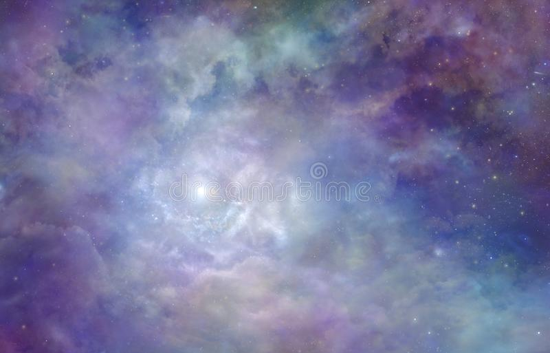 Fundo nebuloso do espaço profundo da nebulosa cósmica fotografia de stock