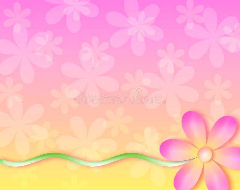 Fundo - nenhuma flor de parede ilustração do vetor