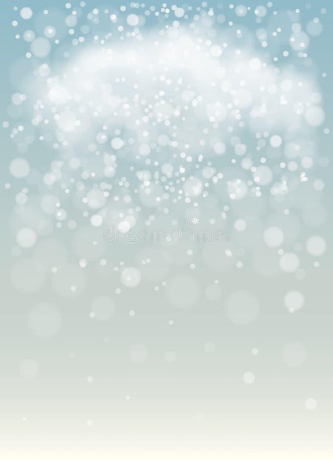 Fundo nevado ilustração stock