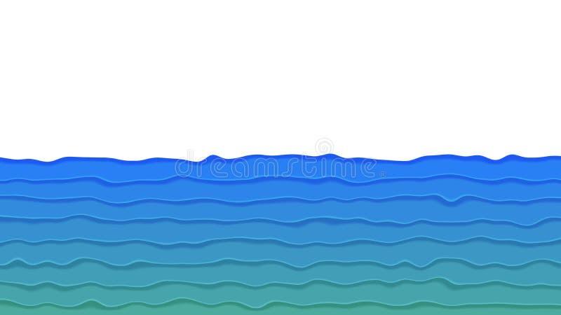 Fundo no estilo de papel ilustração stock