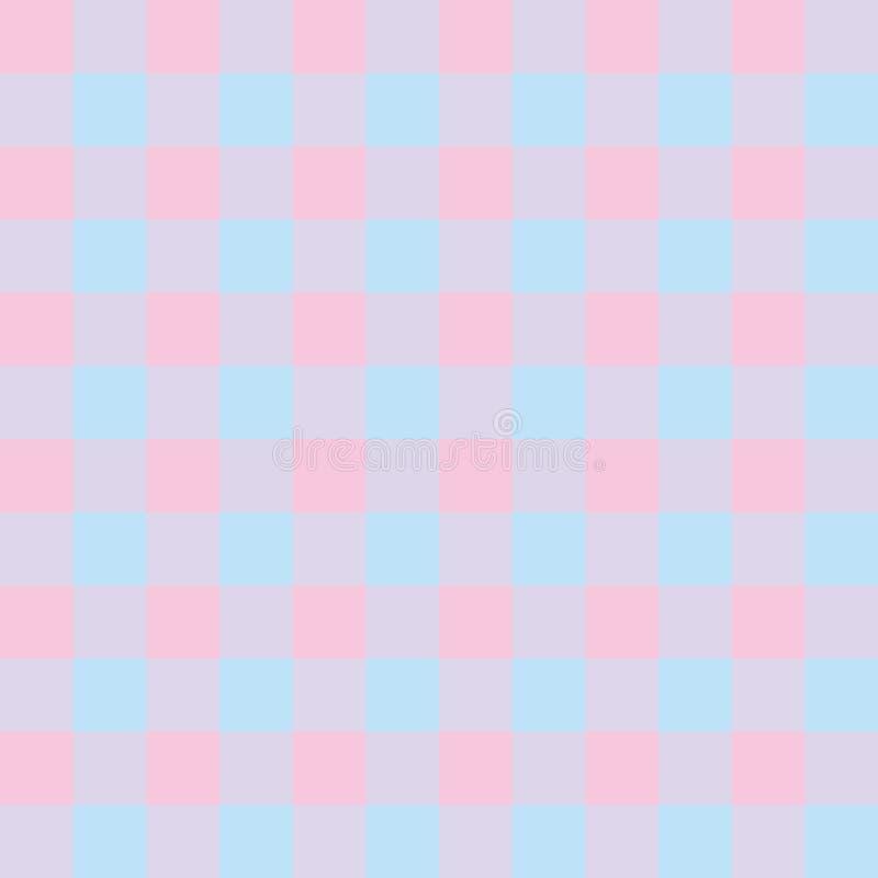 Fundo no rosa e azul quadriculados ilustração stock