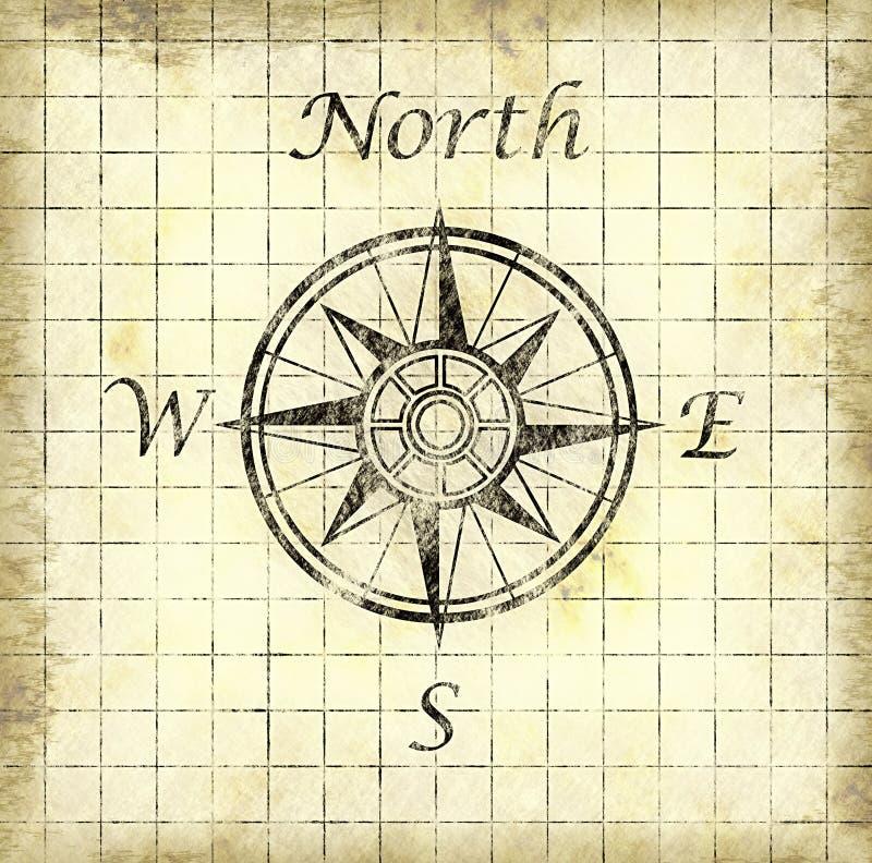 Fundo norte do papel da seta ilustração stock