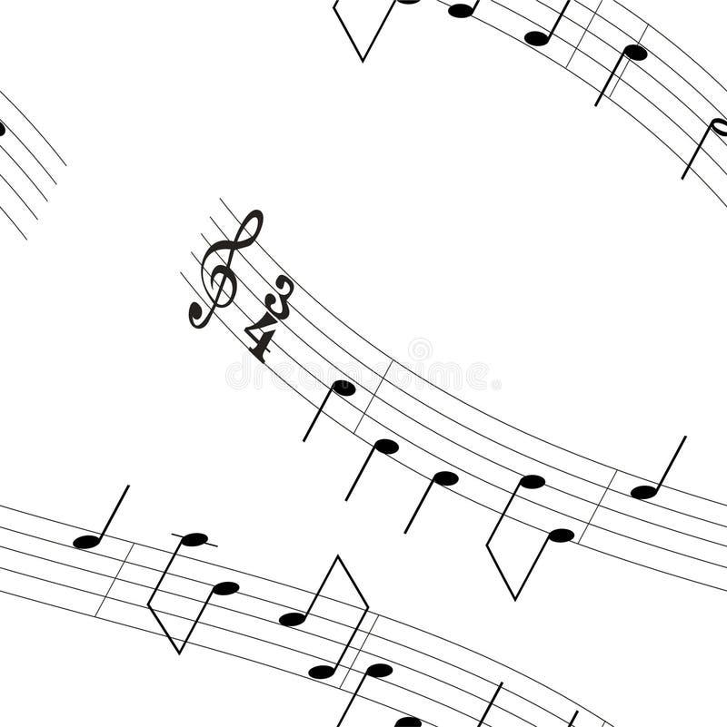 Fundo - notas 3 da música ilustração royalty free