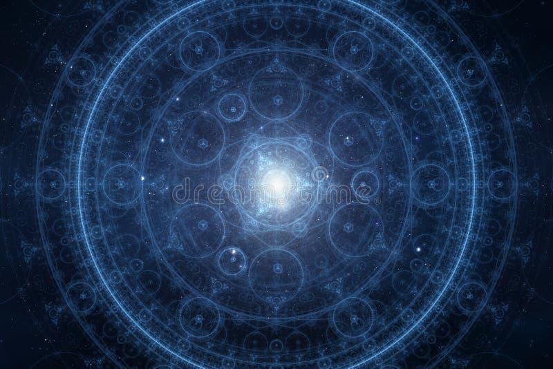 Fundo novo abstrato do espiritual da idade ilustração stock