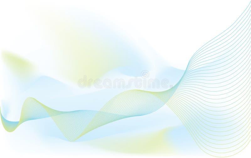 Fundo ondulado ilustração do vetor