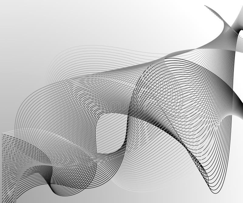 Fundo ondulado abstrato ilustração stock