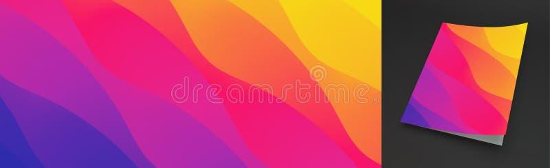 Fundo ondulado abstrato com inclina??o da cor Projeto moderno na moda Aplic?vel para cartazes, insetos, bandeiras, capas do livro ilustração stock