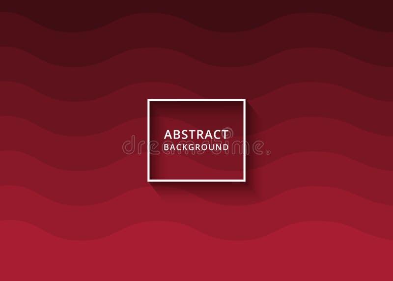 Fundo ondulado abstrato moderno na cor vermelha Projeto do sumário do cartão do fundo, do contexto ou do convite Fundo ondulado ilustração stock