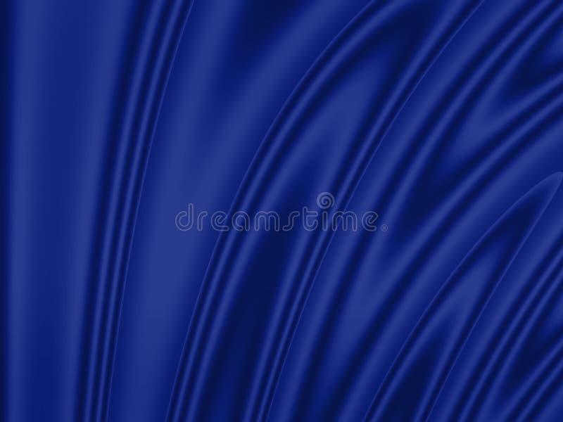 Fundo ondulado: azul ilustração do vetor