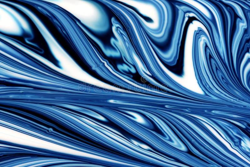 Fundo ondulado azul ilustração royalty free