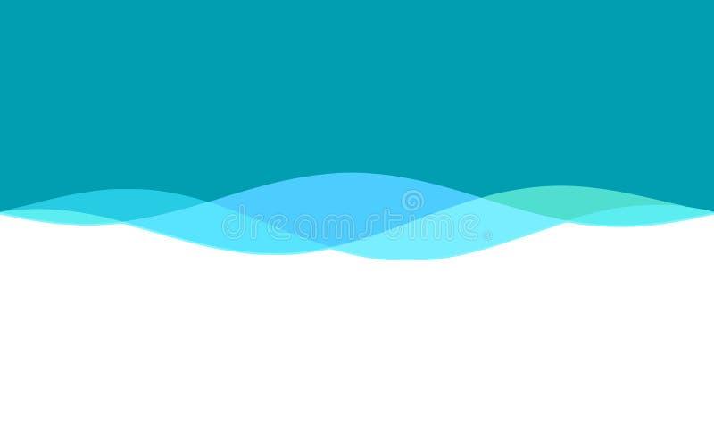 Fundo ondulado azul verde branco ilustração stock