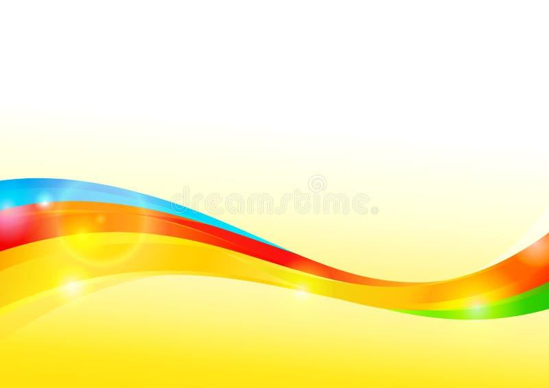Fundo ondulado colorido ilustração do vetor