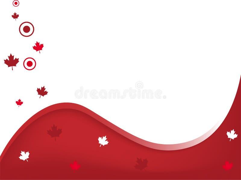 Fundo ondulado de Canadá ilustração royalty free