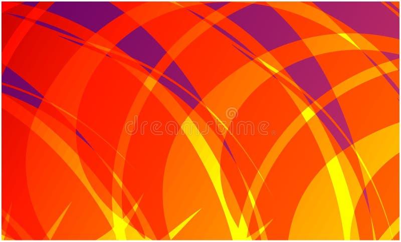 Fundo ondulado do colourfull do sumário do vetor, papel de parede Folheto, projeto ilustração stock