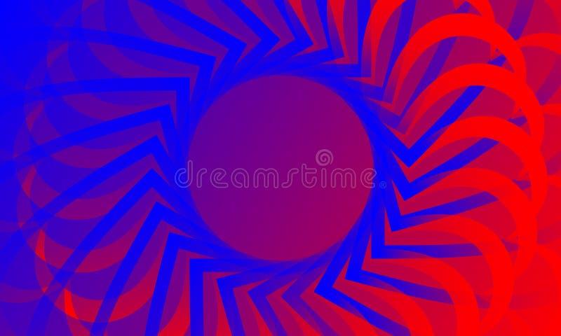 Fundo ondulado do colourfull do sumário do vetor, papel de parede Folheto, projeto ilustração royalty free