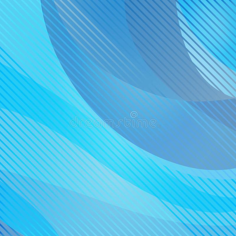 Fundo ondulado e listrado abstrato, cor azul Vetor ilustração stock