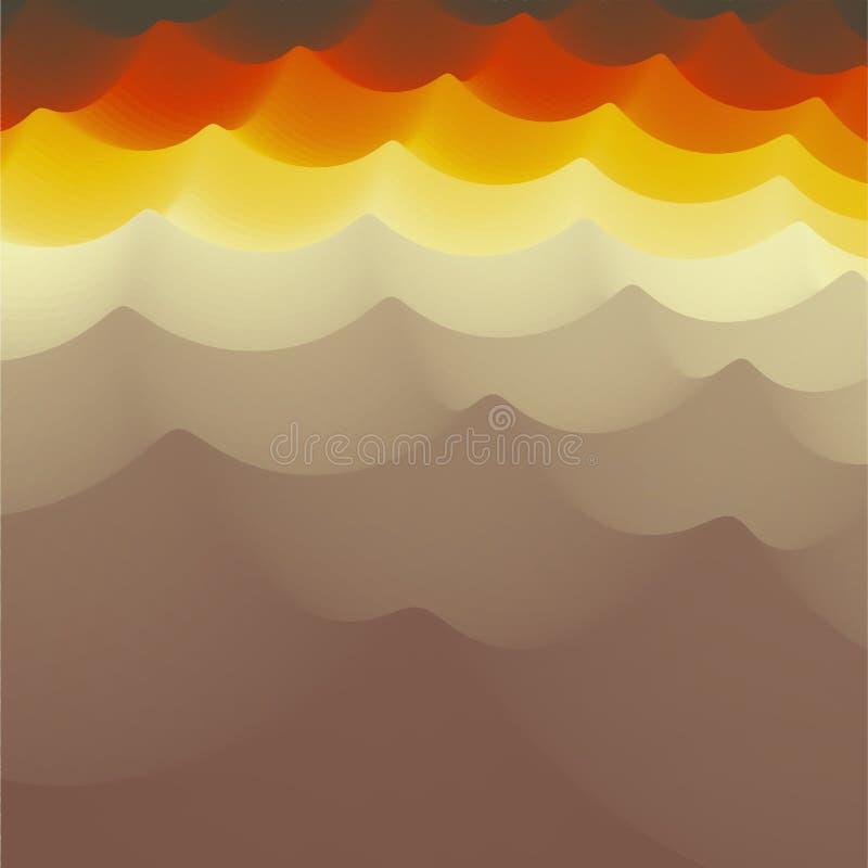 Fundo ondulado ilustração abstrata do vetor 3d Molde do projeto Teste padrão moderno Ilustração do vetor para sua água fresca de  ilustração royalty free