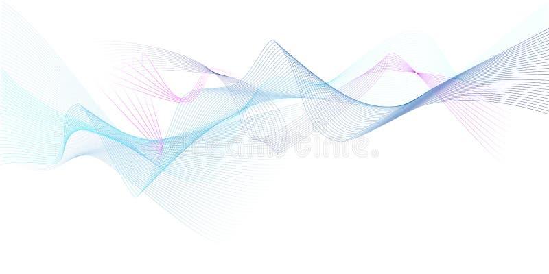 Fundo ondulado moderno colorido do vetor imagens de stock