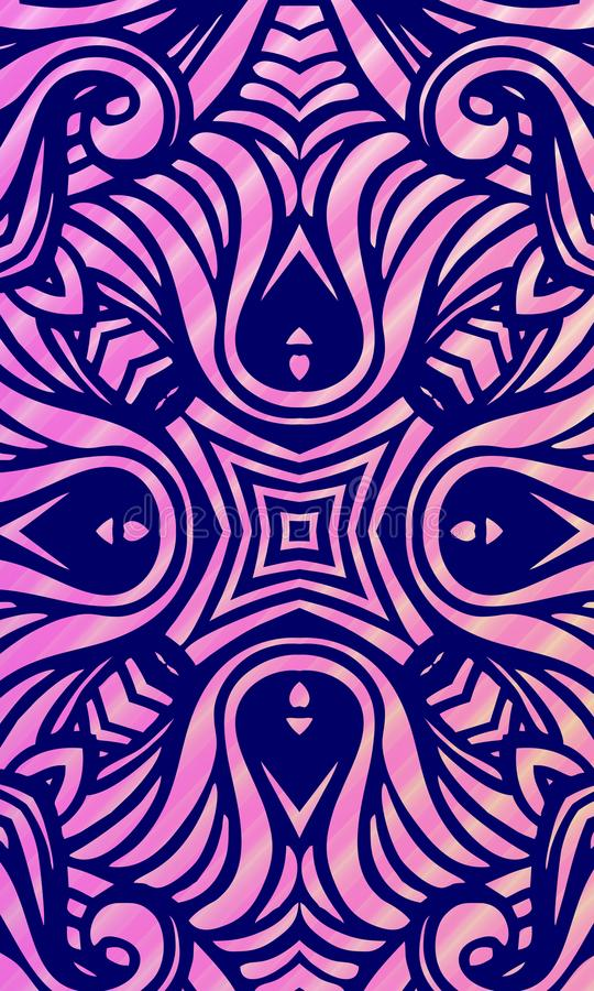 Fundo ondulado protegido colorido com bolhas, papel de parede do vetor abstrato, ilustração do vetor ilustração royalty free