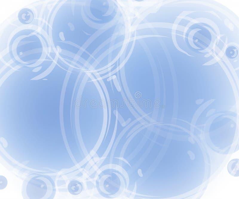 Fundo opaco do azul de Artsy ilustração do vetor