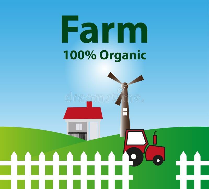 Fundo orgânico da exploração agrícola ilustração royalty free