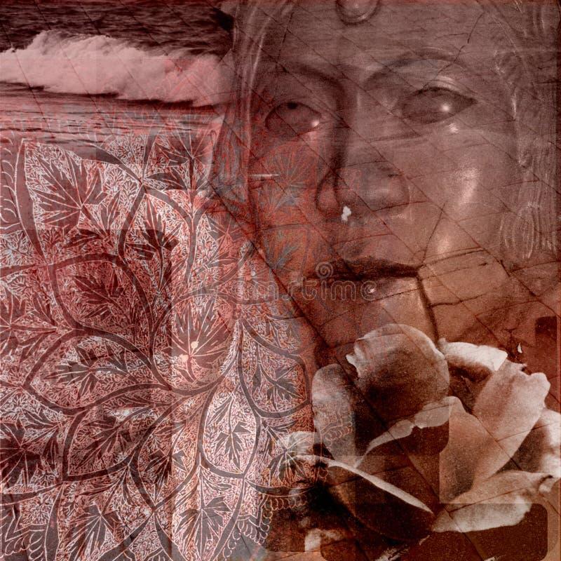 Fundo oriental cor-de-rosa de Grunge ilustração do vetor