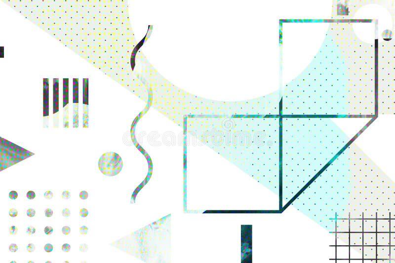 Fundo original com formas geométricas simples ilustração do vetor