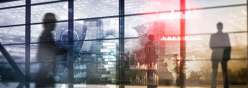 Fundo original Intelig?ncia empresarial Diagrama, gráfico, compra e venda de ações, painel do investimento, transparente ilustração stock