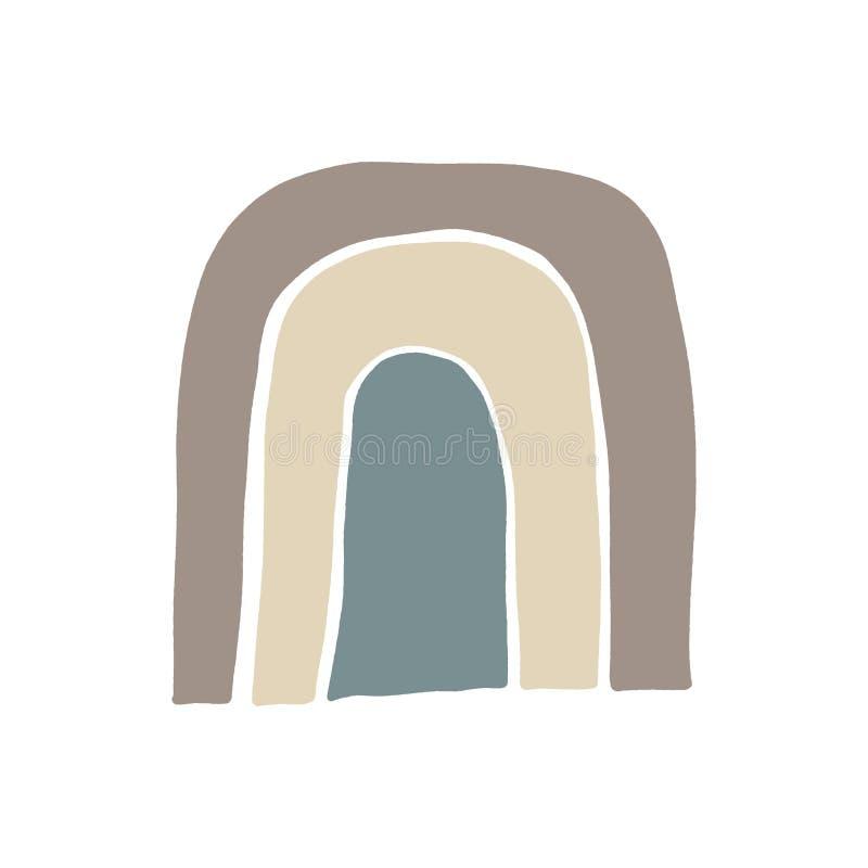Fundo ou disposi??o abstrata moderna do vetor das formas Paleta de cores escandinava pastel ilustração royalty free