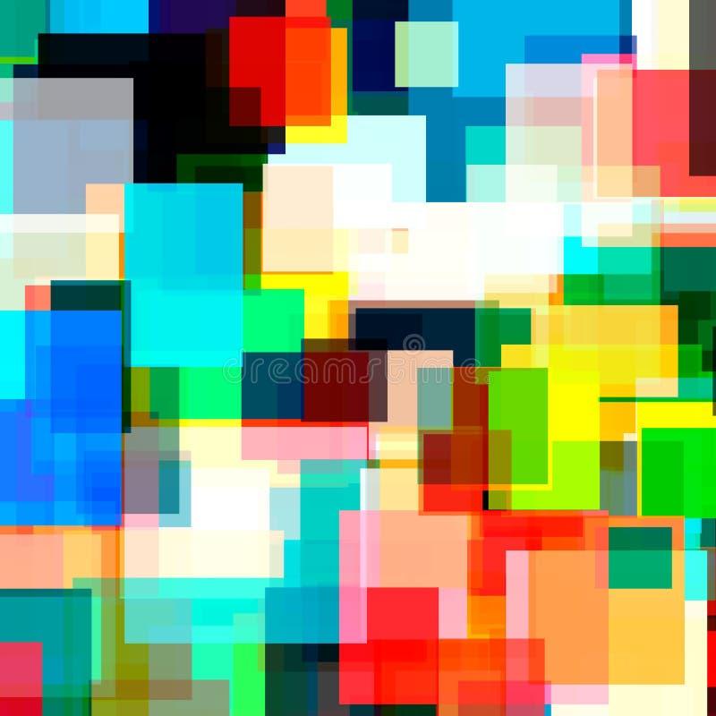 Fundo ou quadro brilhante colorido do polígono do triângulo ilustração do vetor
