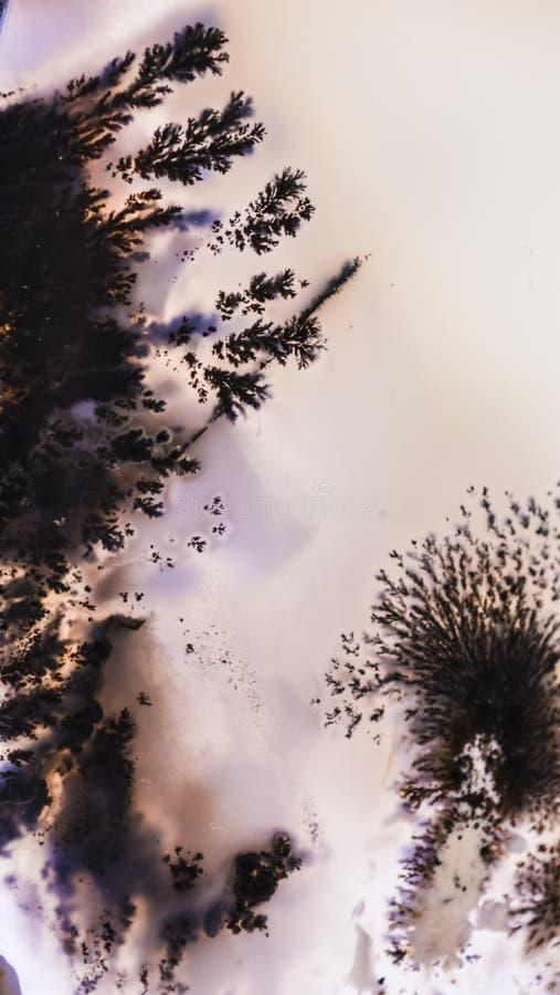Fundo ou textura abstrata de uma pedra em uma seção, de uma máscara cor-de-rosa com manchas pretas e das manchas Material natural imagem de stock royalty free