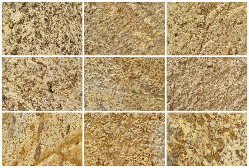Fundo ou texturas naturais da pedra calcária doze fotos de stock royalty free