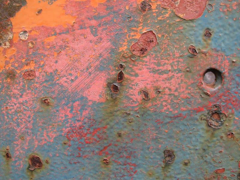 Fundo oxidado do metal fotografia de stock
