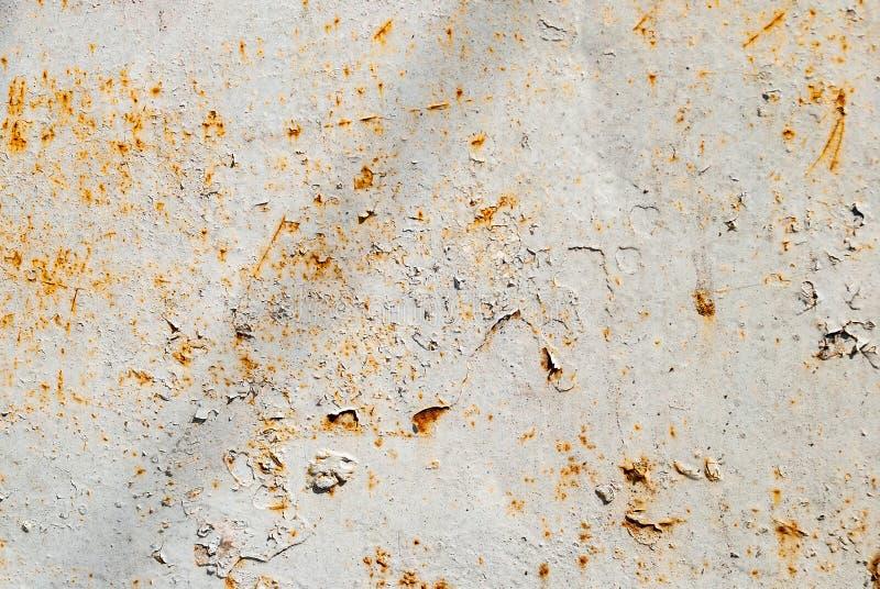 Fundo oxidado e danificado do metal fotografia de stock