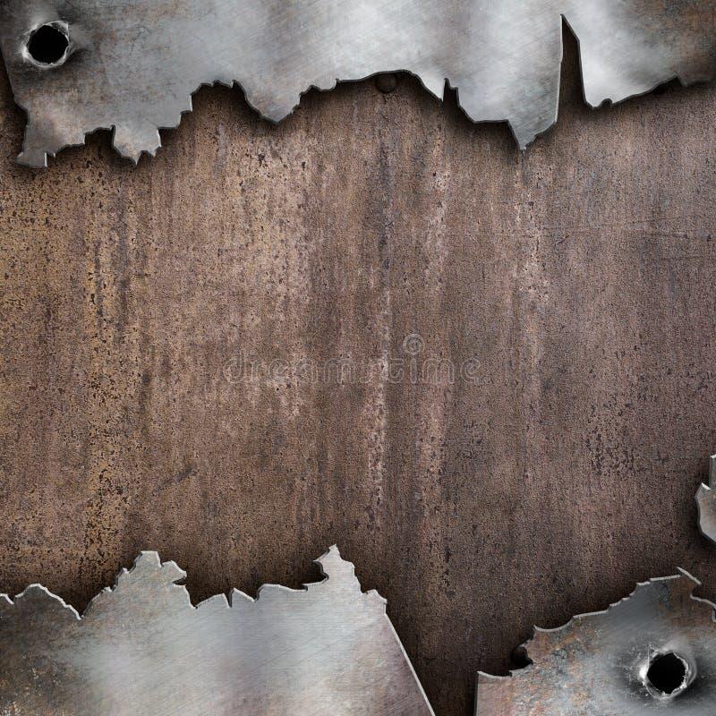 Fundo oxidado rasgado do metal ilustração do vetor