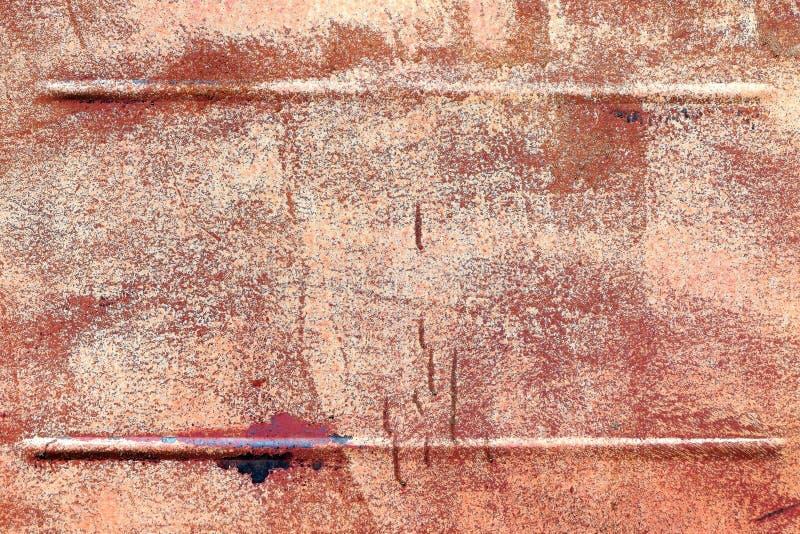 Fundo oxidado velho do metal Quadro no ferro velho foto de stock royalty free