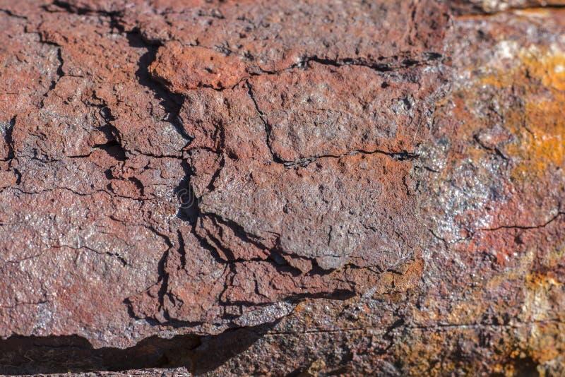 Fundo oxidado vestido escuro Textura da oxidação do ferro do Grunge fotos de stock royalty free