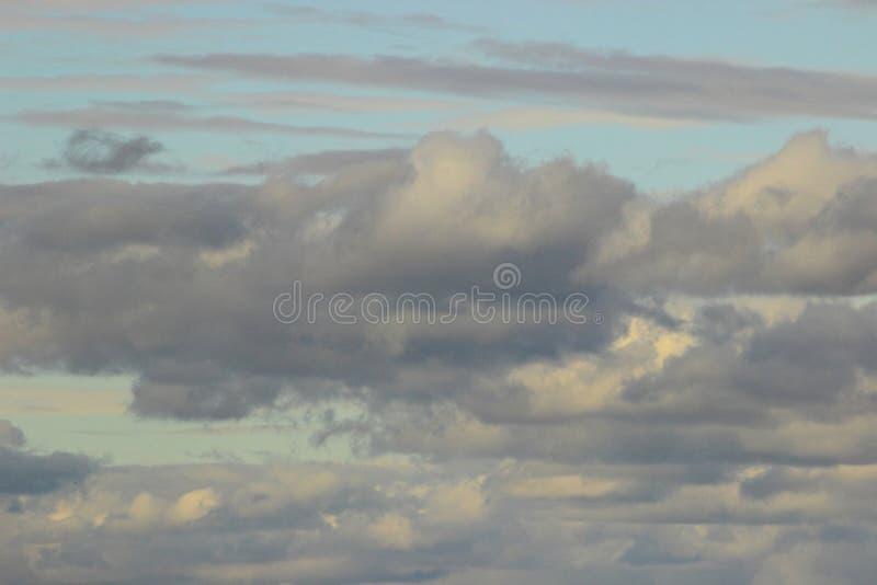 Fundo panorâmico das nuvens imagem de stock