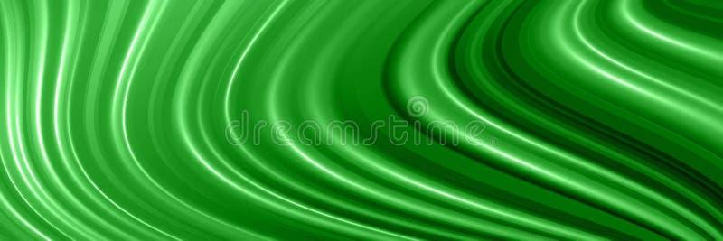Fundo panorâmico do verde do sumário com linhas ilustração royalty free